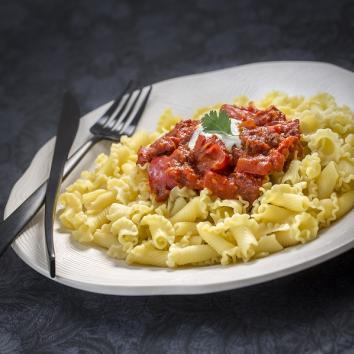 Corolles terroir au chorizo, tomates et poivrons