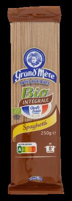 SPAGHETTI - Pâtes Bio complètes - Pâtes Grand'Mère - 2