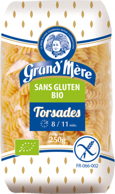 Paquet de pâtes bio sans gluten