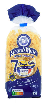 COQUILLES - Pâtes courtes classiques - Pâtes Grand'Mère - 2