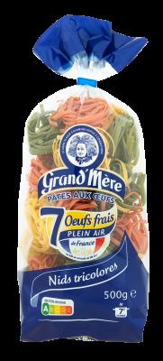 NIDS N°4 TRICOLORES - Pâtes tricolores - Pâtes Grand'Mère - 2
