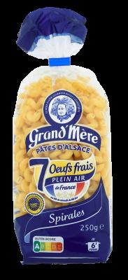 SPIRALES - Pâtes courtes classiques - Pâtes Grand'Mère - 2